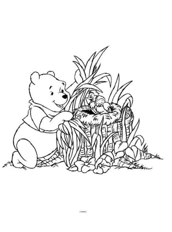 Kleurplaat Winnie The Pooh Kerst Kids N Fun 33 Kleurplaten Van Lente