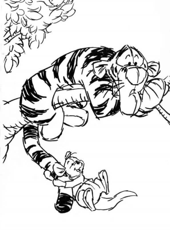 kidsnfun kleurplaat winnie de pooh winnie en vriendjes