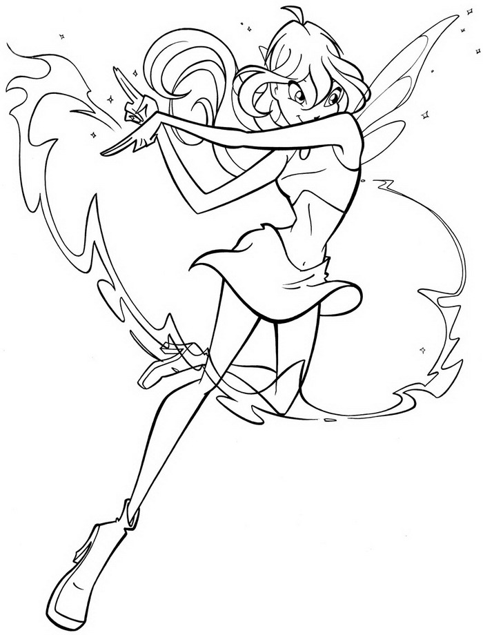 Kids n fun 28 kleurplaten van winx club for Winx club bloom coloring pages