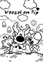 Kleurplaat Fijne Vakantie Lente Kids N Fun 21 Kleurplaten Van Woezel En Pip