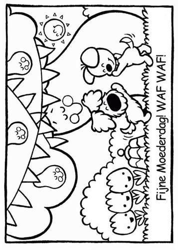 Wonderbaarlijk Kids-n-fun   21 Kleurplaten van Woezel en Pip BJ-26