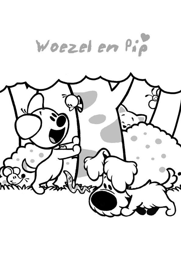 Kleurplaat Jip En Janneke Kerst Kids N Fun 21 Kleurplaten Van Woezel En Pip
