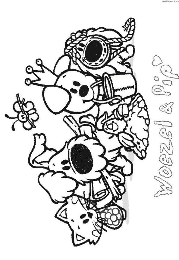 Woezel En Pip Kleurplaten Kids N Fun 21 Kleurplaten Van Woezel En Pip