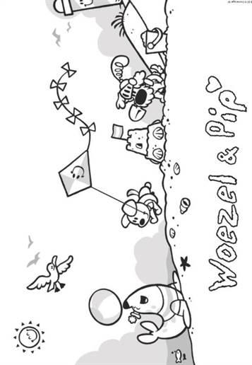 Hedendaags Kids-n-fun   21 Kleurplaten van Woezel en Pip HQ-25
