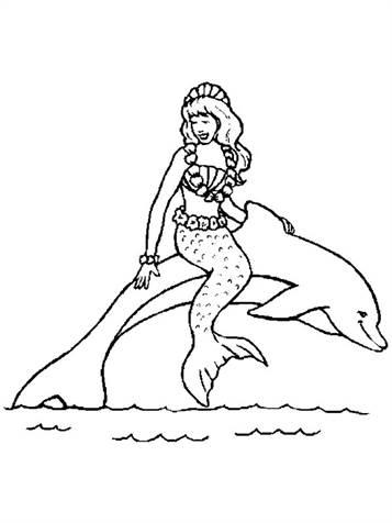 Kleurplaten Dolfijnen En Zeemeerminnen.Kids N Fun 29 Kleurplaten Van Zeemeermin