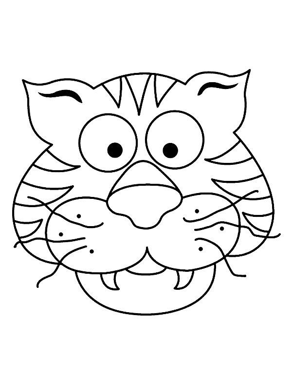 Dieren Maskers Kleurplaten.Kids N Fun 18 Knutsels Van Maskers Dieren