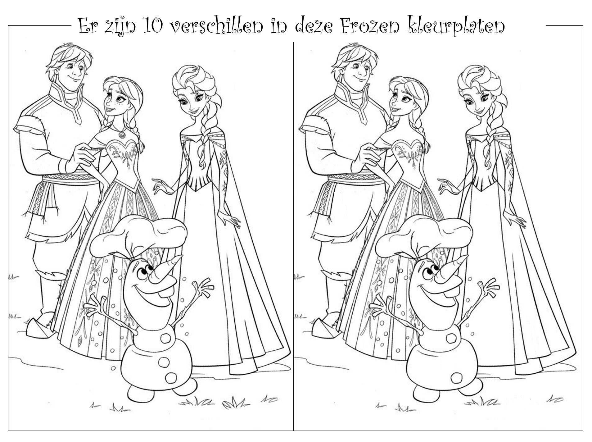 Kids N Fun Knutsels Frozen Zoek De Verschillen Zoek De 10