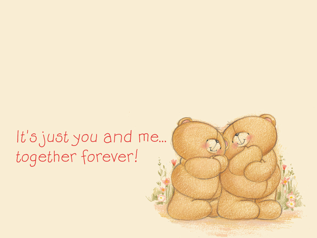 Love Wallpaper You And Me : Forever Friends Bears With Quotes. QuotesGram